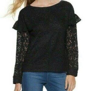 Black Juicy Couture Lace Blouse